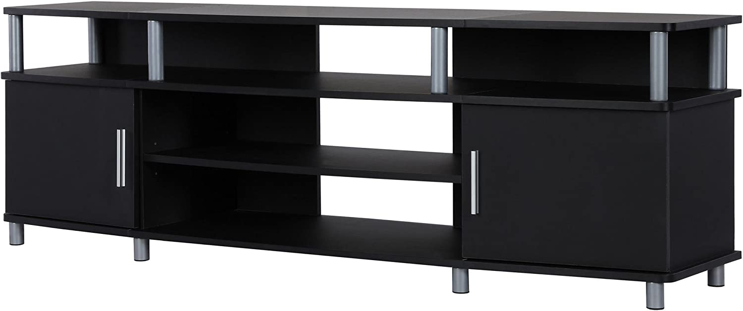 """Ameriwood Home Carson TV Stand for TVs up to 70"""", Black"""