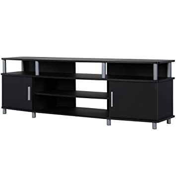 Amazon Com Ameriwood Home Carson Tv Stand For Tvs Up To 70 Black