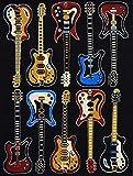 Rugs 4 Less Collection Fun Musical Theme Guitar Contemporary Area Rug (5'X7')