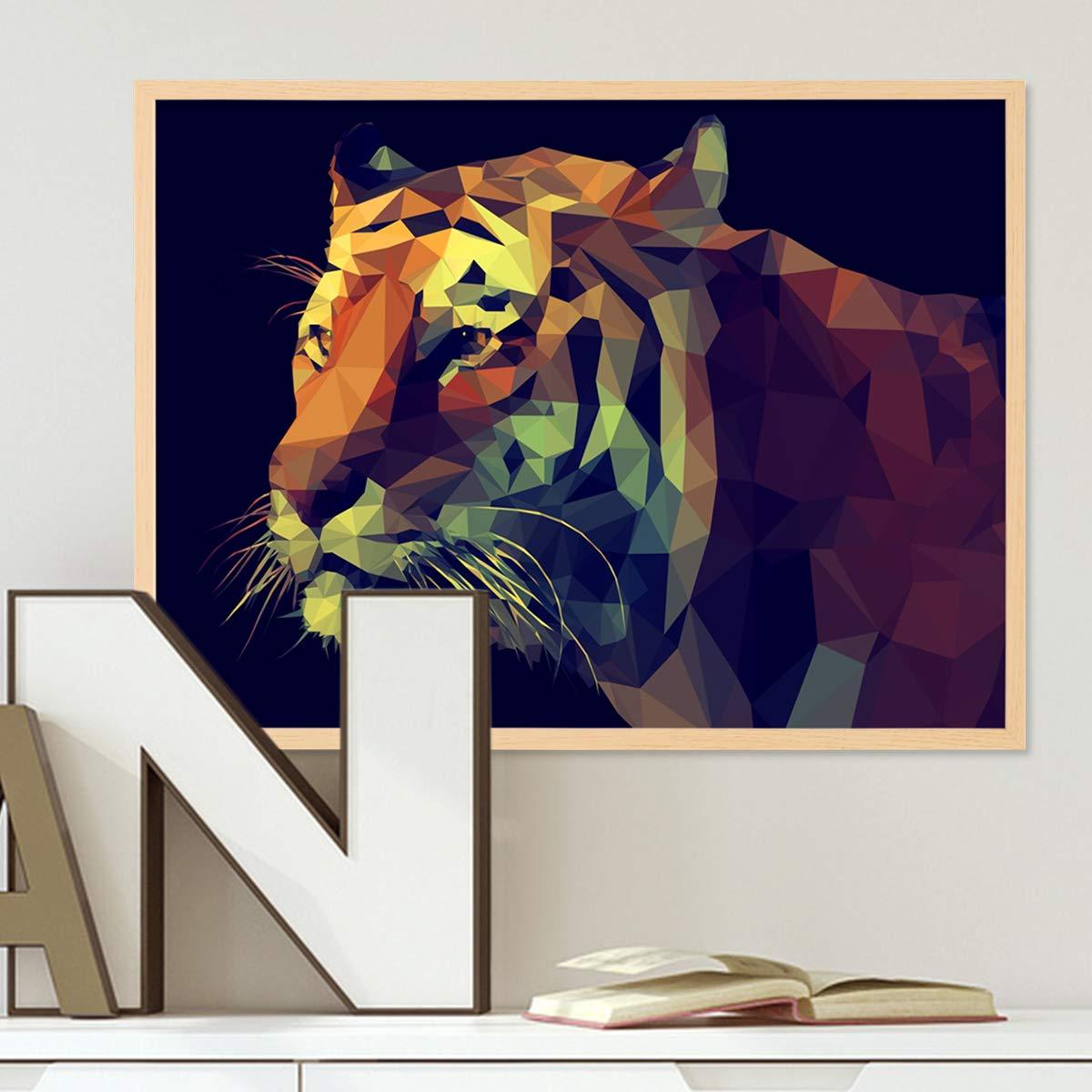 PHOTOLINI Poster Elefant 40x50 cm schwarz-Weiss Motiv Natur Landschaft Zebra Afrika Foto