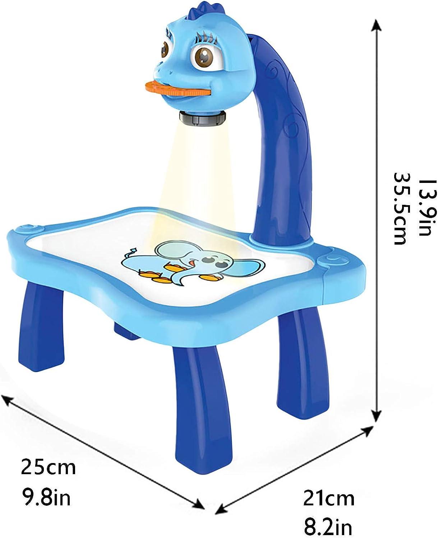 Malset Geburtstagsgeschenk f/ür Kinder mit intelligentem Projektor Lern-//Zeichnen Bildungs-Projektion Spielzeug Dan/&Dre Lerntisch f/ür Kinder Malmaschine