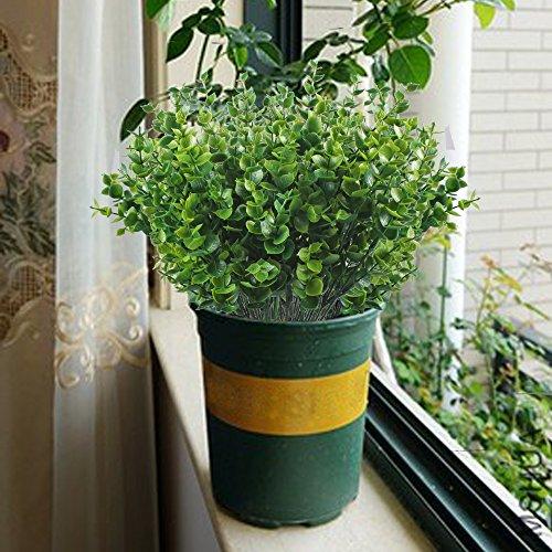 Green Kitchen Jeddah: Artificial Shrubs, Hogado 4pcs Fake Plastic Greenery