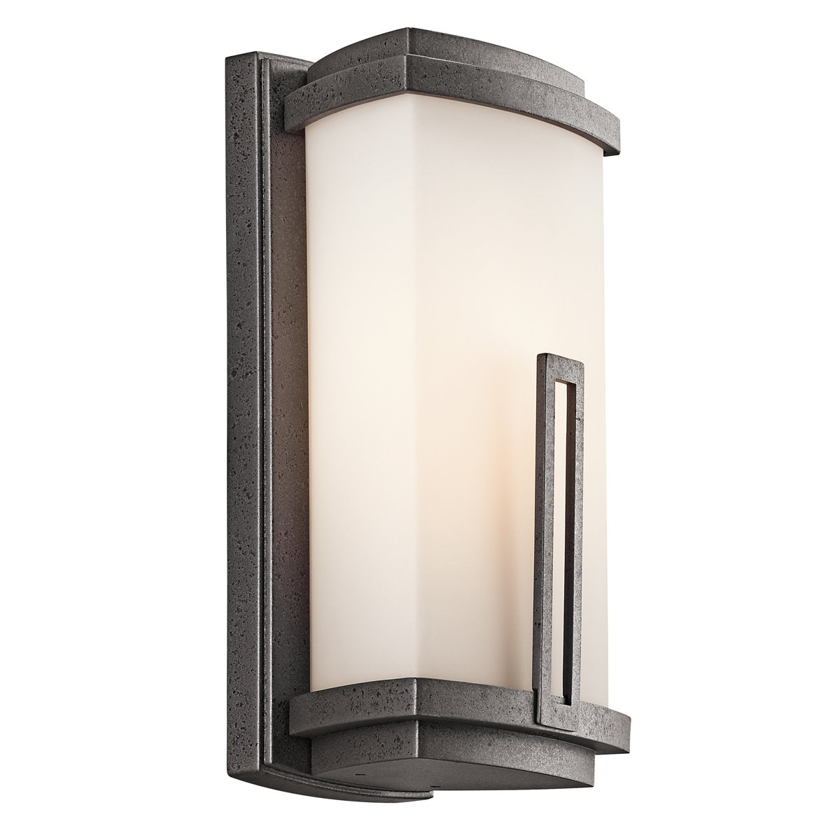 Kichler Lighting 49110AVI Leeds 12 1 2 Inch Light Outdoor Wall Lantern   Anvil Iron with Satin Etched Cased Opal Glass   Wall Porch Lights    Amazon comKichler Lighting 49110AVI Leeds 12 1 2 Inch Light Outdoor Wall  . Kichler Lighting Outdoor Sconce. Home Design Ideas