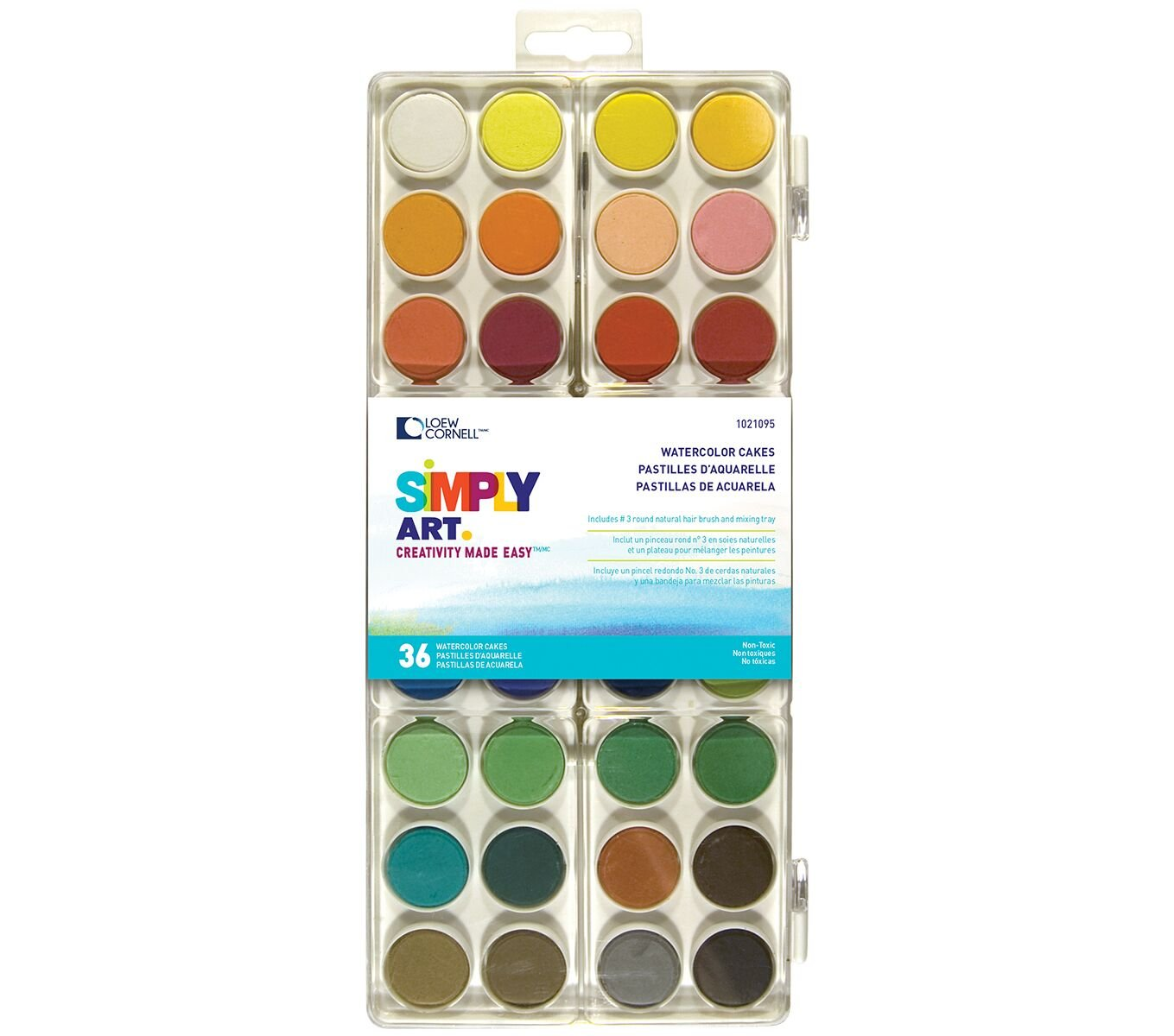 Loew-Cornell 1021095 Simply Art Watercolor Cakes G T Luscombe Non-Classifiable