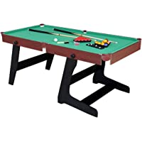 HLC 6ft Green Foldaway Snooker/Pool Table with Snooker and Pool Ball Sets