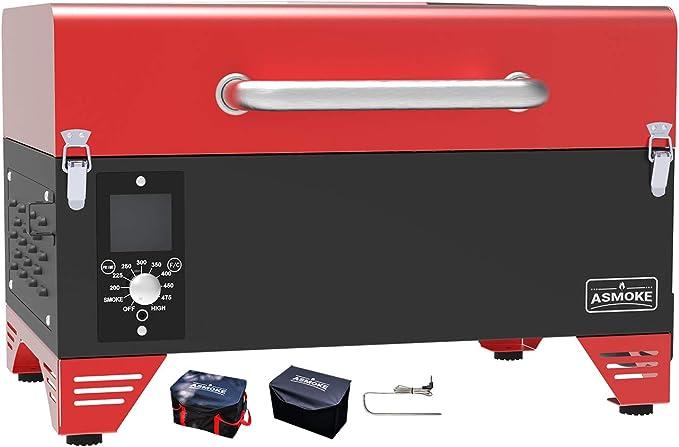 ASMOKE AS300 Electric Pellet Tailgating Tabletop Grill - Best Portable Vertical Pellet Smoker