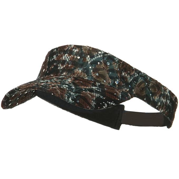237c878e58f24 Amazon.com  SS Hat Multi Color Animal Print Visor - Brown OSFM  Clothing