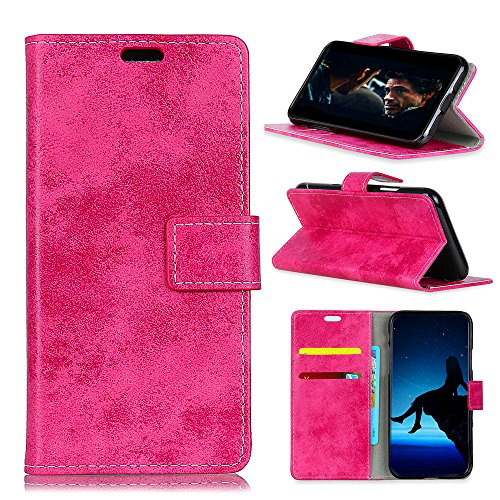 AICEDA Alcatel 3X Wallet Multi Card Holder Accessory Replacement Folio PU Leather Cover Replacement Case Replacement Alcatel 3X - Rosy ()