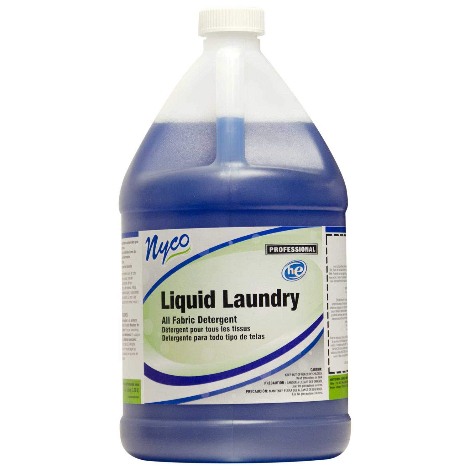 Nyco Products NL929-G4 Liquid Laundry Detergent, 1-Gallon Bottle (Case of 4)