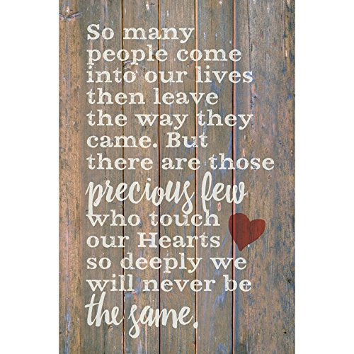 So Many People Wood Plaque with Inspiring Quotes 6x9 - Classy Vertical Frame Wall & Tabletop Decoration | Easel & Hanging Hook | So Many People Come into Our Lives Then Leave The Way They Came