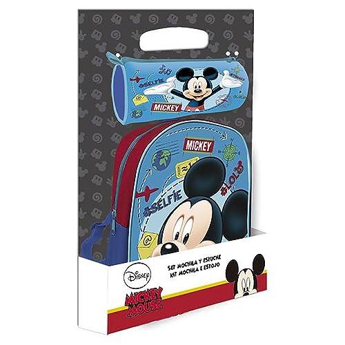 Disney Mouse Sac à Dos Mickey + Trousse Offerte, AST4375