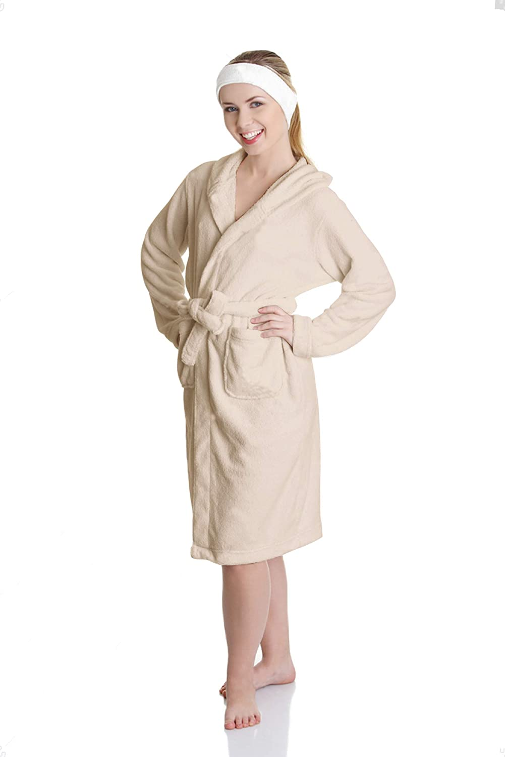 Sunshine Linens Shawl Men /& Women Robe Terry Towelling 100/% Cotton Highly Absorbent Super Soft Dressing Gown for Shower Spa Hotel Bathrobe