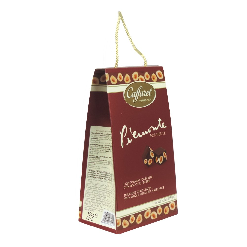 Caffarel - Piemonte Fondente - Red Gift Bag - 150g (Case of 6)