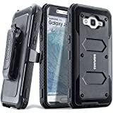 COVRWARE Galaxy J7 (2015)/ J700 [Aegis Series] Built-in [Screen Protector] Heavy Duty Full-Body Rugged Holster Armor Case[Belt Clip][Kickstand](T-Mobile/MetroPCS/Boost Mobile/Virgin), Black