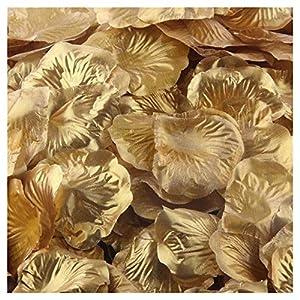 Artificial Flowers,FTXJ 500pcs Silk Rose Artificial Petals Wedding Party Favors Decoration 9