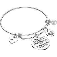 Amazon Price History for:Grandma Gifts The Love Between A Grandmother and Grandson Granddaughter is Forever Bracelet