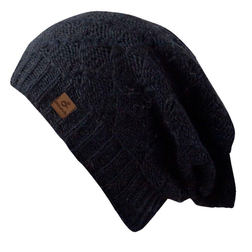 Nova Hat - Bonnet en tricot à la mode pour les dames - fait main au Népal - 2014, bonnet tricoté avec voile, chapeau mou