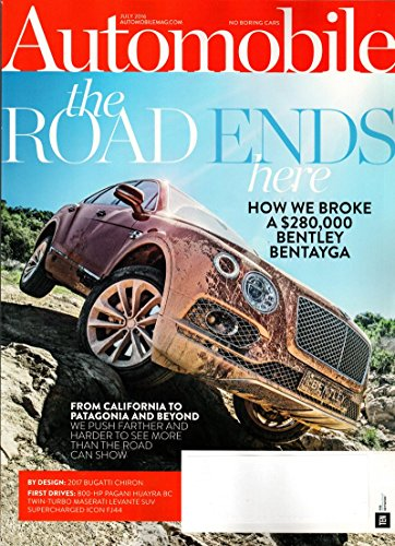 Automobile Magazine - July 2016 | Bentley Bentayga