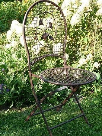 Amazon.de: romantischer Gartenstuhl aus Metall Eisen Rustikal (Rost ...