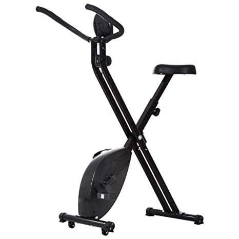 HOMCOM - Bicicleta estática Cardio Fitness Plegable Pantalla LCD ...