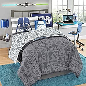 Amazon Com Star Wars Reversible Comforter Set 7 Pc Full