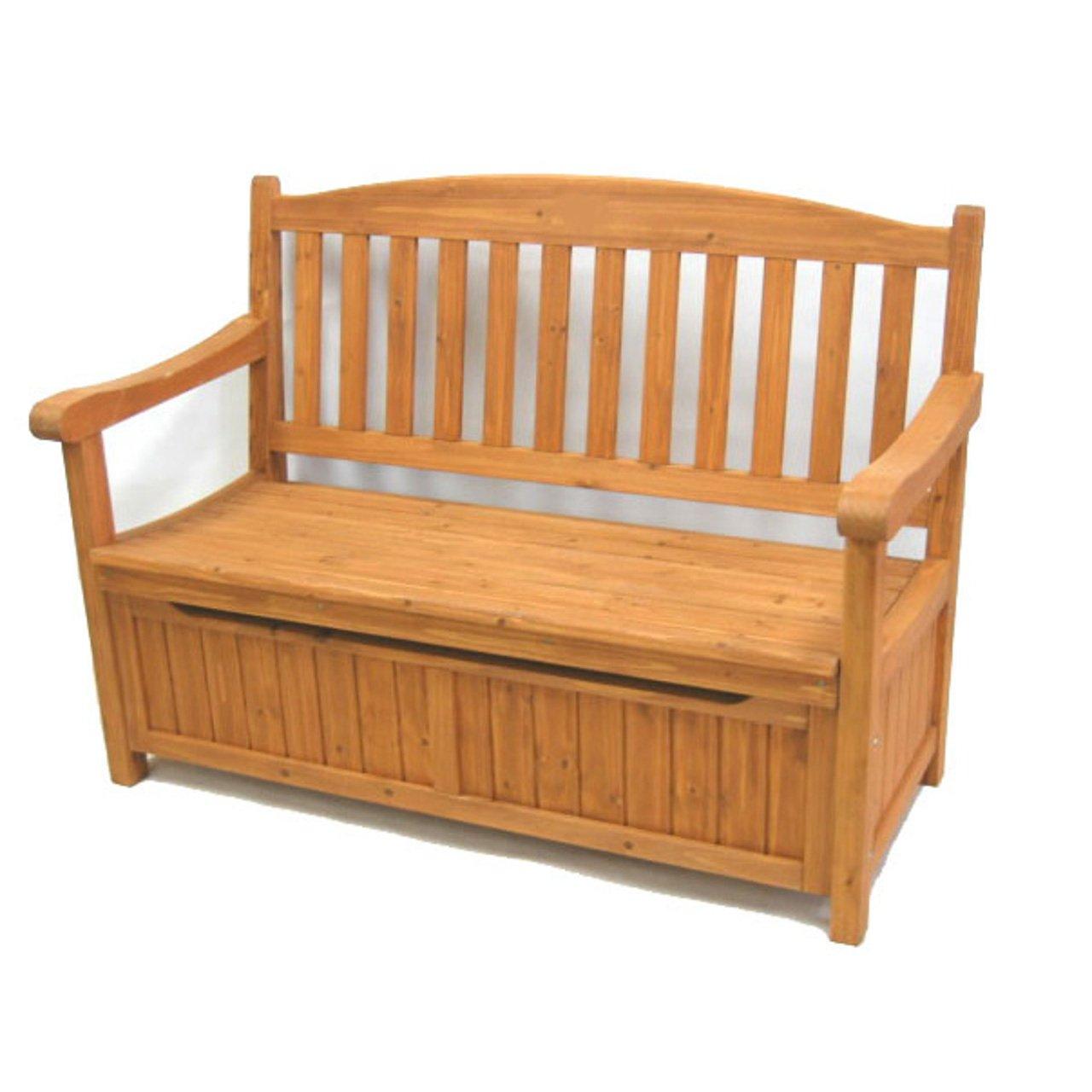 AHEART ガーデンベンチ 収納 屋外 収納庫 付き 木製 ストッカー 物置 庭 テラス SI 426 ブラウン B07F683PHJ  ブラウン