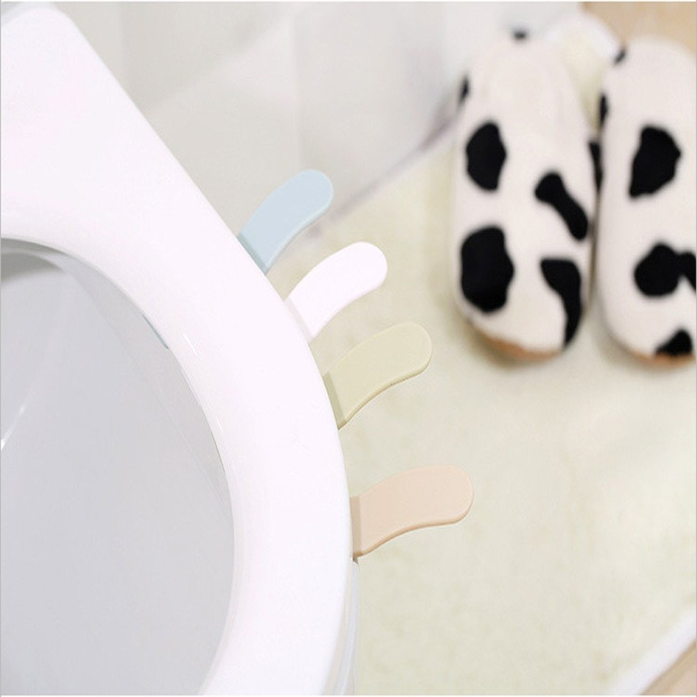 Alelife Toilet Seat Cover Lifter Handle Avoid Touching Hygienic Clean (White)