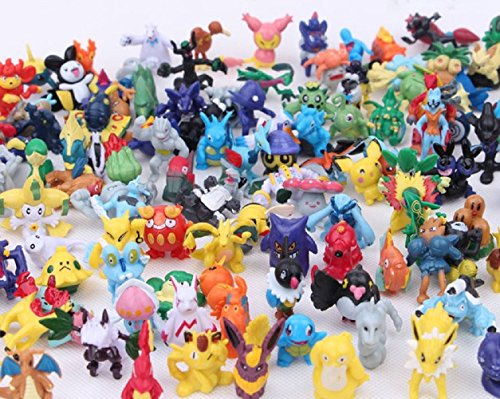 Brand New Hot 24 PCS Random 2-3cm Lovely Pokemon Monster Action Mini Pearl Figures Toys
