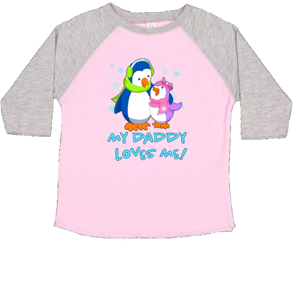 inktastic My Daddy Loves Me Cute Penguins Toddler T-Shirt