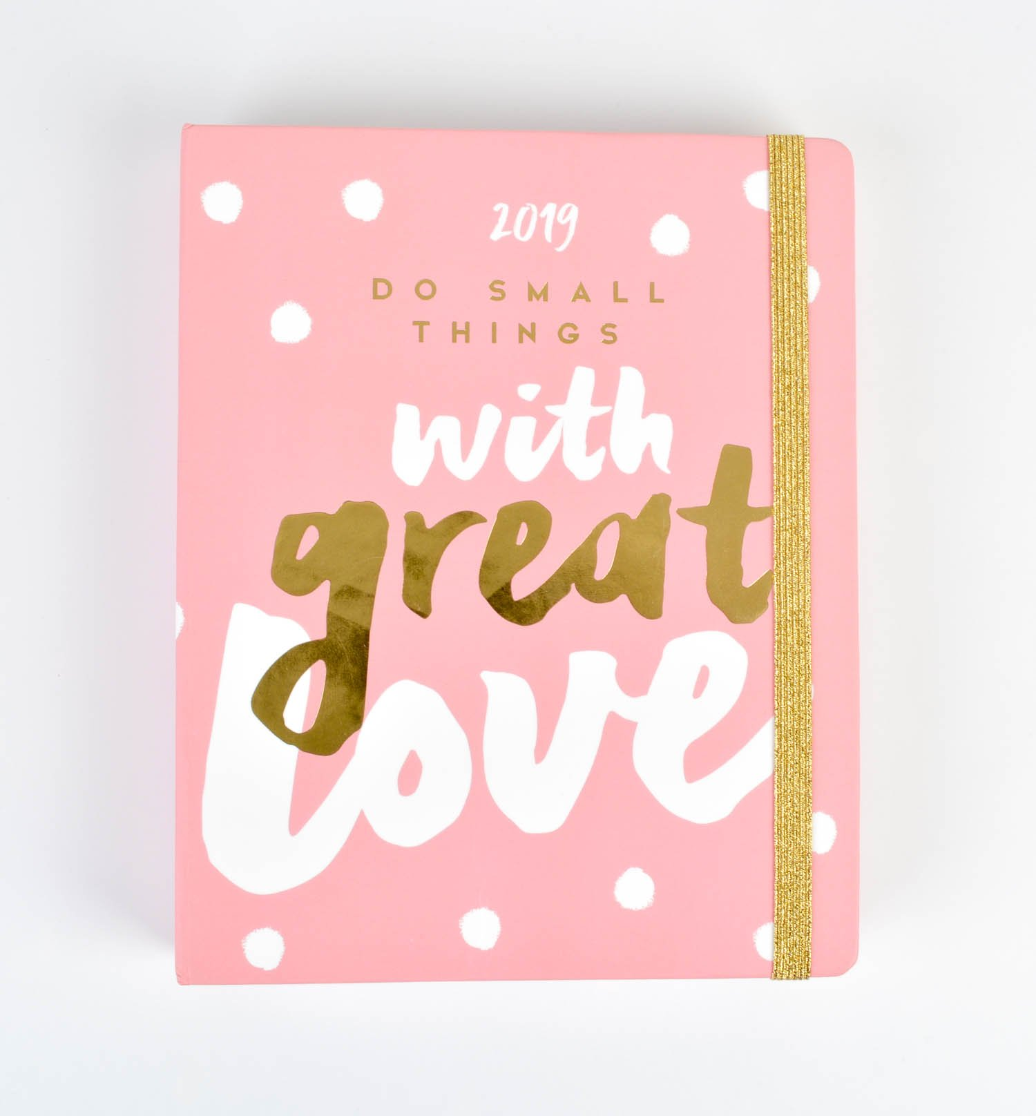 Glitter Weekly Planner, Yearly Planner and Daily Planner, 16-Month Form Sept-18 to Dec-19, Organizer, Calendar and Agenda, 6.3'' x 8''
