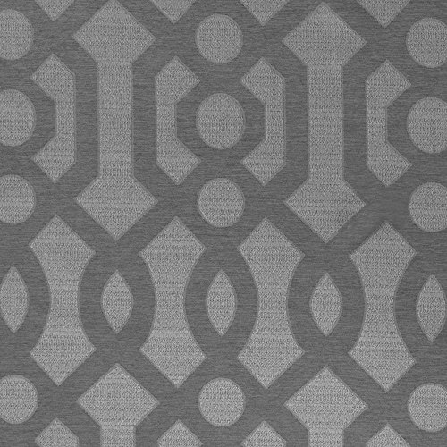 Semi Sheer Curtains for Windows Jacquard Curtain Panels for Living Room 63 inch Length Opaque Geometry Trellis Pattern Privacy Bedroom Curtains Grey Grommet Top, 2 Panels