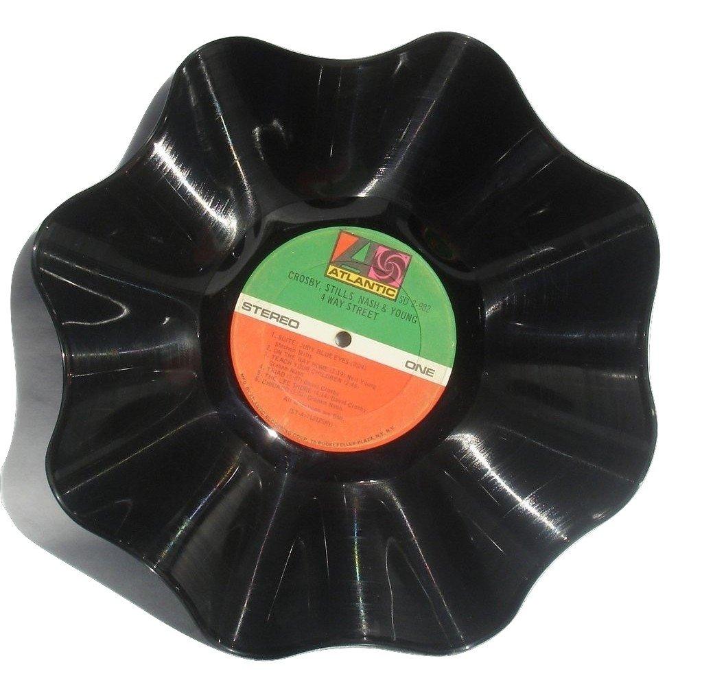 CROSBY, STILLS, NASH (Young) Vinyl Record Bowl