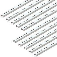 EMUCA Perfil Cremallera estanteria Blanco, perforación Simple 50mm