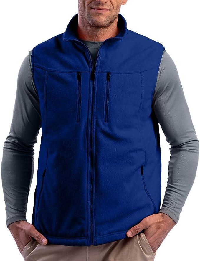 SCOTTeVEST Men's Fireside Fleece Travel Vest | 15 Pockets | Anti-Pickpocket