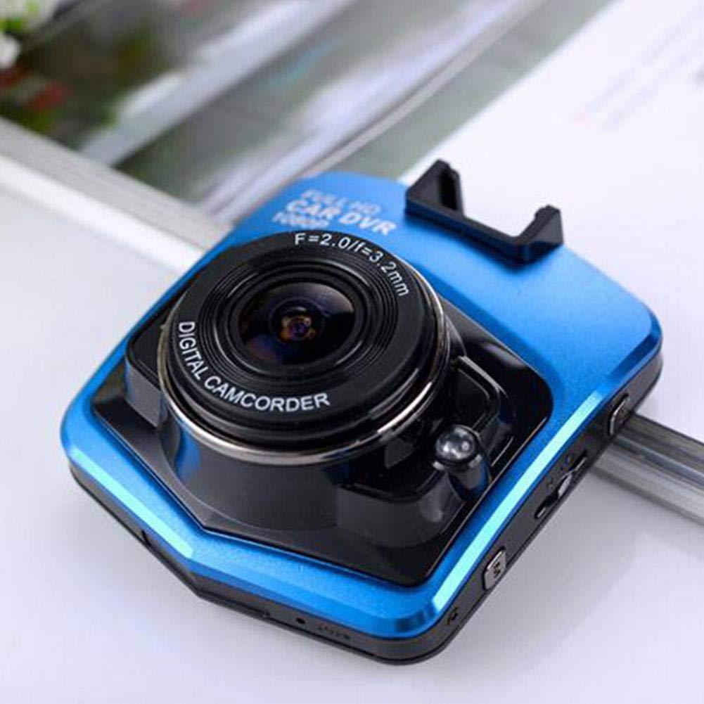 1080p rilevazione di Movimento e Monitor di parcheggio G-Sensor Colore Nero Videocamera da cruscotto per Auto Registrazione in Loop registratore Video con 16 GB SD Visione Notturna HD
