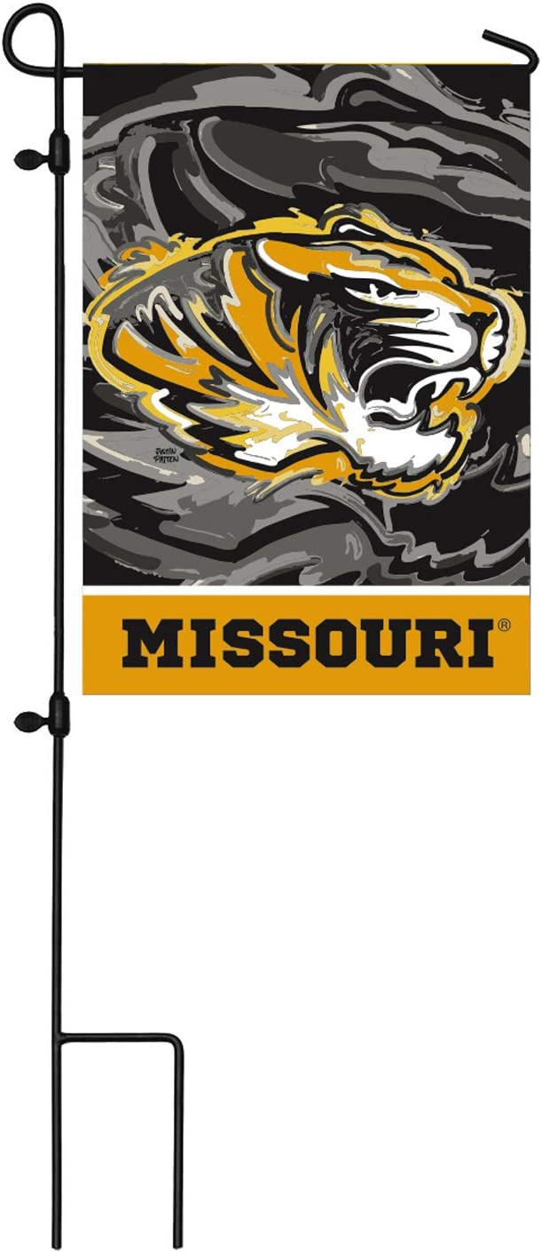 Team Sports America NCAA University of Missouri Suede Garden Flags