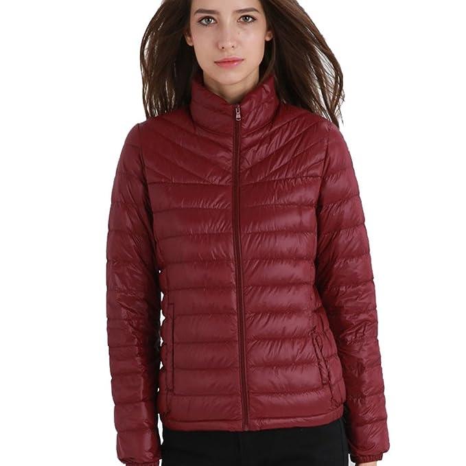 1b652a772 PINGORA Women's Fashion Ultra Lightweight Packable Down Jacket Coat ...
