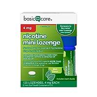 Amazon Basic Care Mini Nicotine Polacrilex Lozenge, 4 mg (nicotine), Stop Smoking...