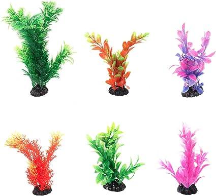 Multi Colors Fish Tank Plastic Plant Ornament Aquarium Decoration Water Grass