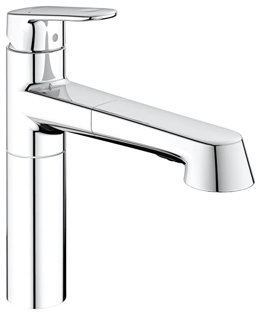 GROHE one hand-SPT-mixer Europlus 33933 with retractable shower ...