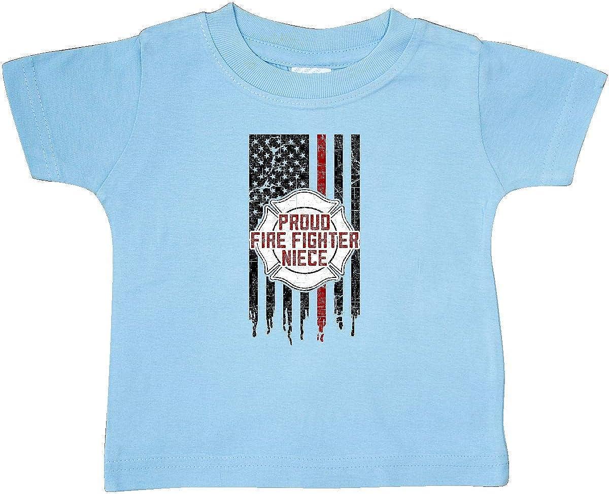 inktastic Proud Firefighter Niece Baby T-Shirt