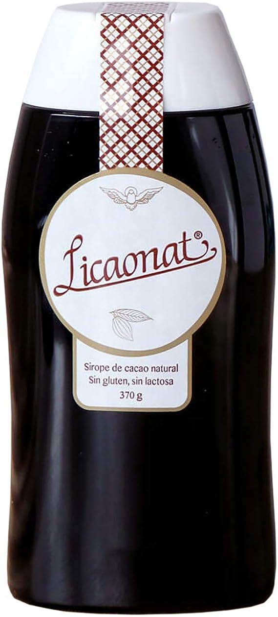 LICAONAT Sirope de chocolate gourmet con cacao natural, sin aditivos y sin alérgenos (sin gluten, sin lactosa, sin PLV, sin lecitina) Apto para ...