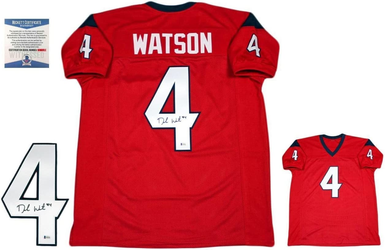 Deshaun Watson Autographed Signed Jersey - Beckett - Red at ...