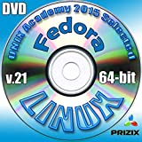 Fedora 21 Linux DVD 64-bit Full Installation Includes Complimentary UNIX Academy Evaluation Exam