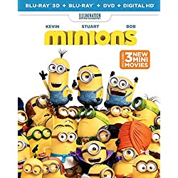 Minions (Blu-ray 3D + Blu-ray + DVD + DIGITAL HD)