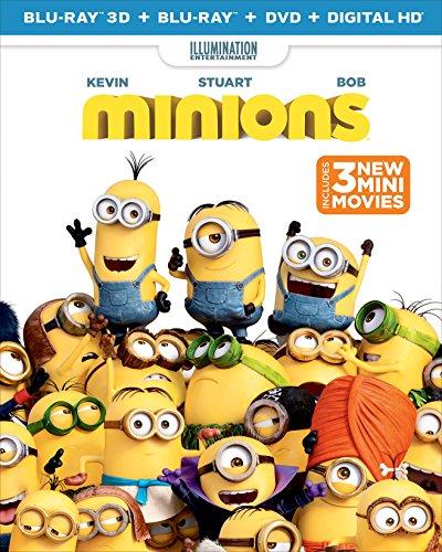 - Minions (Blu-ray 3D + Blu-ray + DVD + DIGITAL HD)