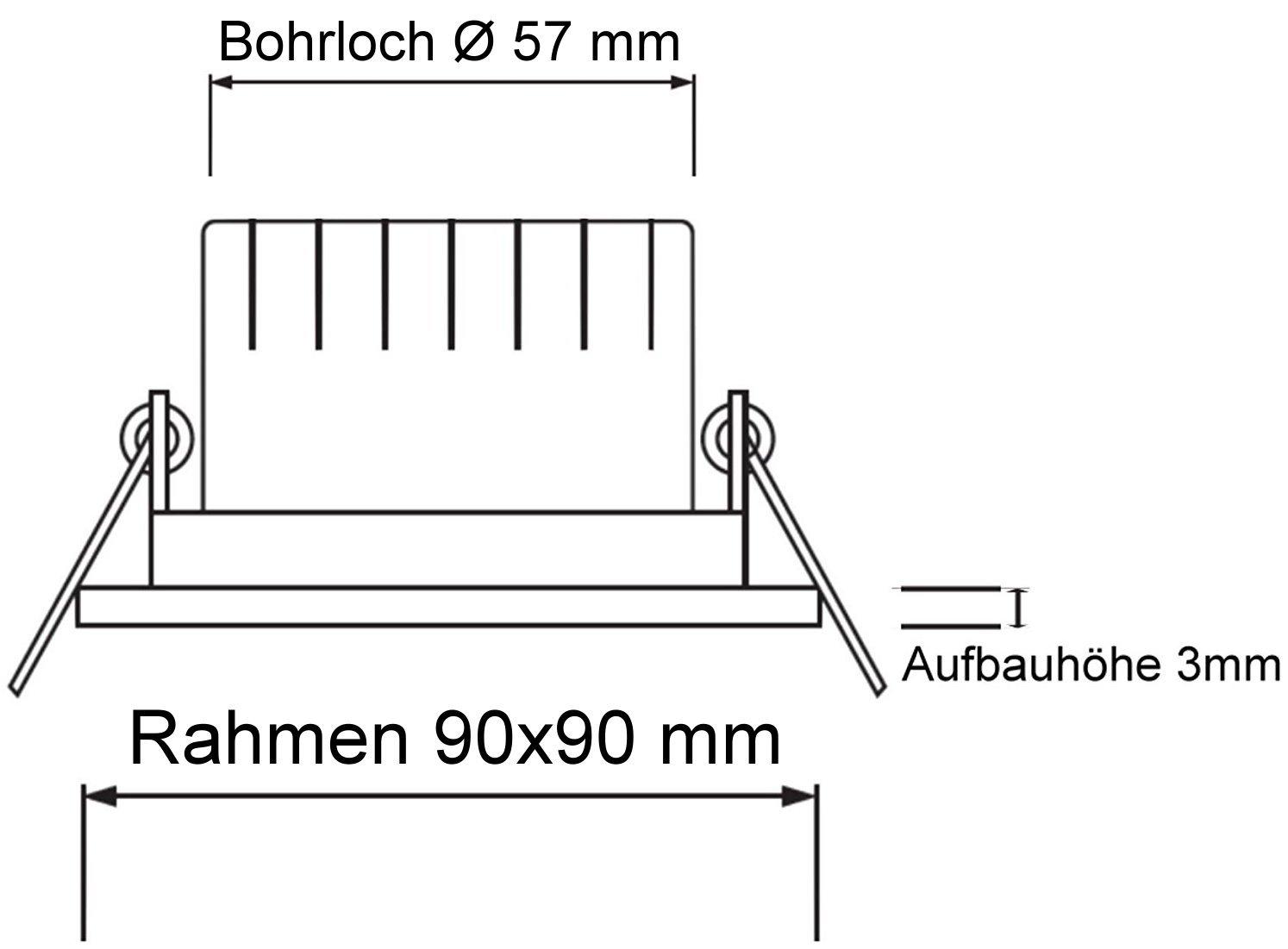 /Con Clic y glasabdeckung/ /de cromo mate /para zonas h/úmedas ba/ño Spot IP44/Foco de aluminio/ cuadrado,/