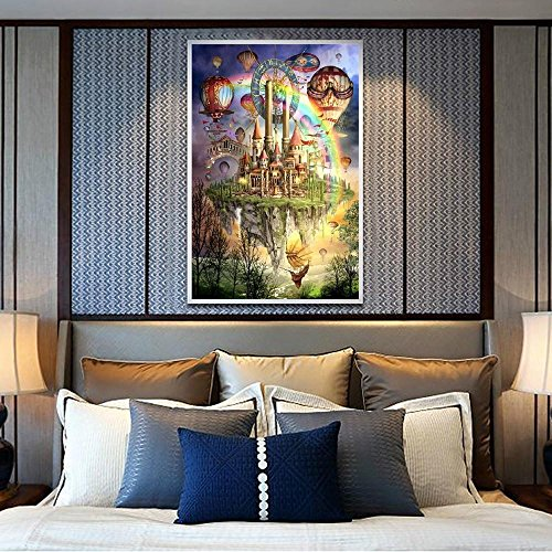 Pandaie To America!!! Castle in The Sky 5D Diamond Painting Full Drill Kits for Adults Embroidery Cross Stitch(all 5% off, three 10% off)