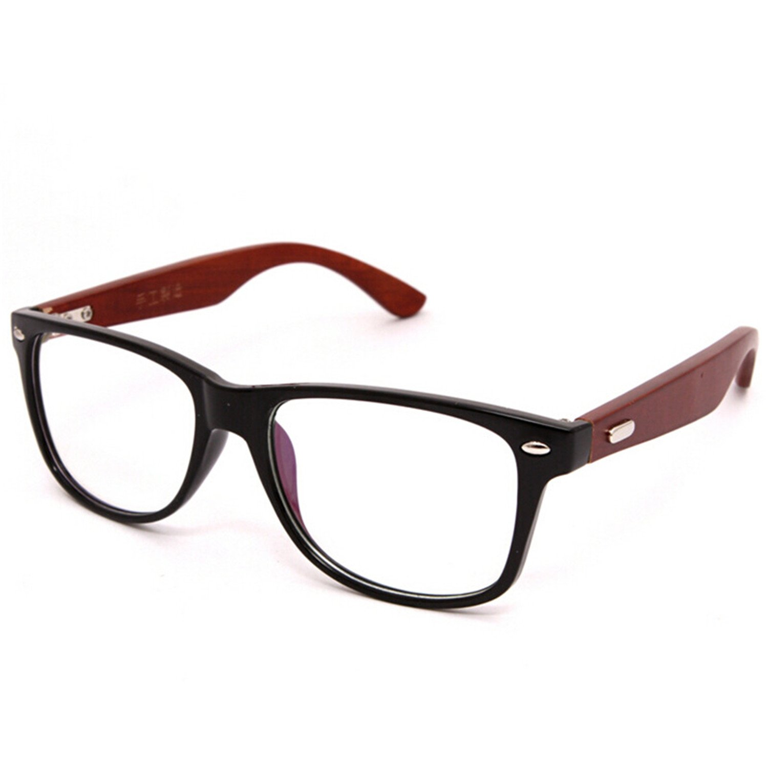 077c5fee950 Amazon.com  Surprising Day New High Grade Fashion Women And Men s Wooden  Glasses Frame Natural Wood Bamboo Eyeglasses Frames Vintage Spectacle Frames  ...