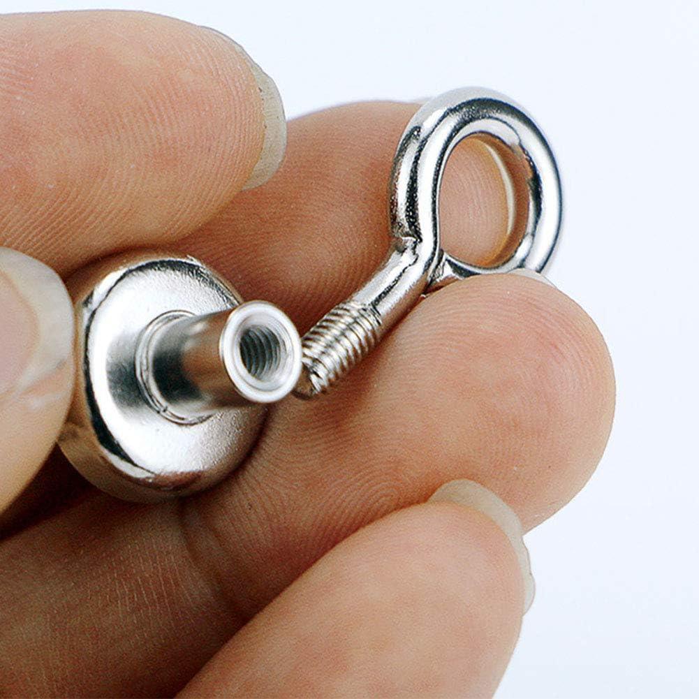 super stark tragbar langlebige Flussangeln klein Eyebolt Leichter Mehrzweck-Magnet rund seltene leistungsstarke Kraft Neodym-Haken